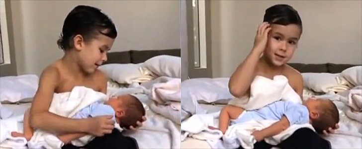 Boy Sings the Sweetest Lullaby to His Baby Brother