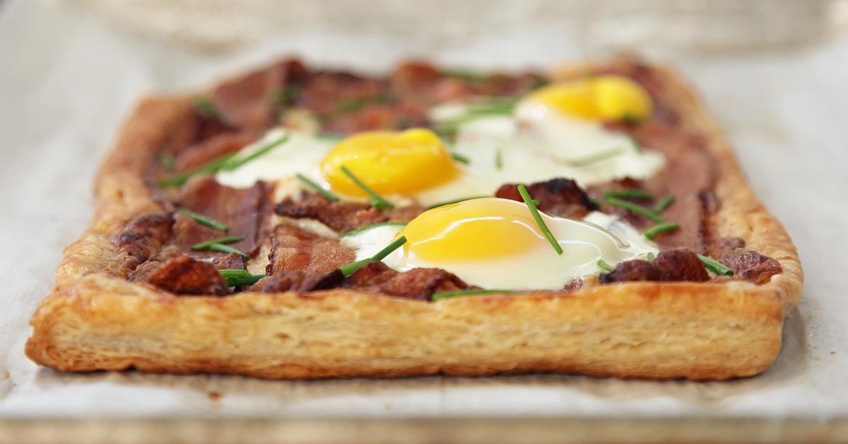 Recipe For Bacon and Egg Breakfast Tart | POPSUGAR Food