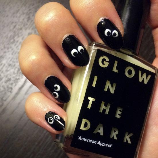DIY Your Own Googly Glow-in-the-Dark Halloween Nail Art