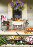 A Peek at 2 Prettily Dressed Fall Porches (13 photos)