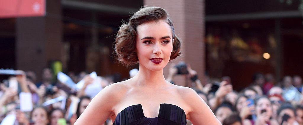 Lily Collins Makes Old Hollywood Glam the New Beauty Standard
