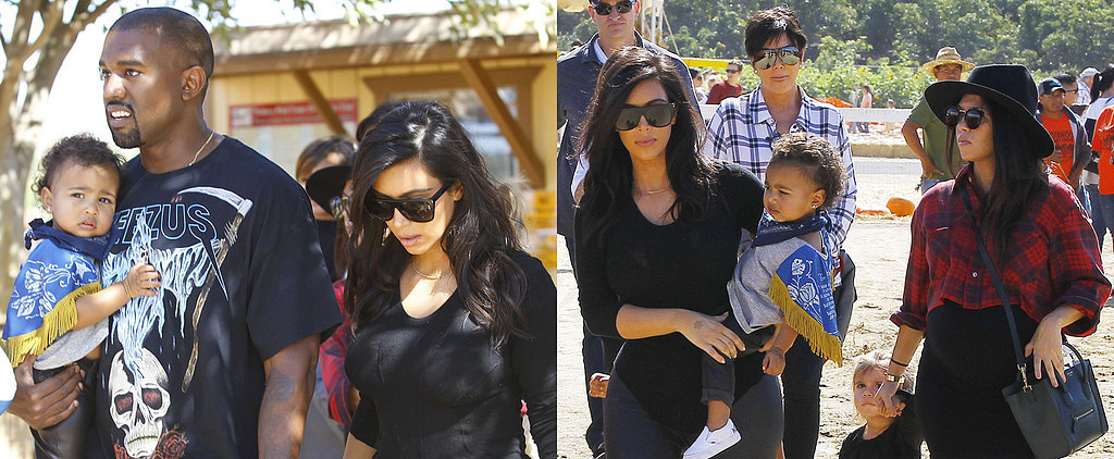Kim Kardashian and Her Family Take Over a Pumpkin Patch