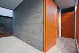 Front and Center Color: When to Paint Your Door Orange (14 photos)