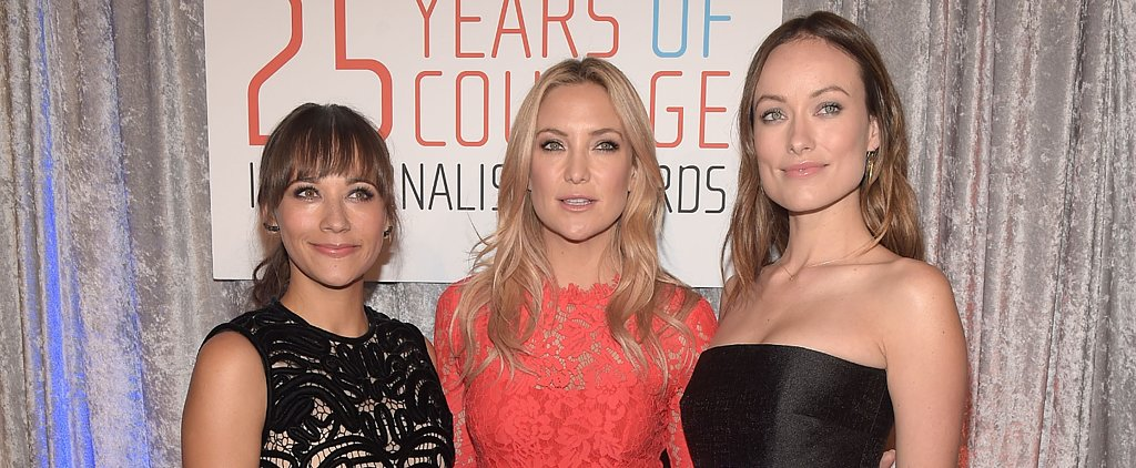 "Courage in Journalism Awards Cohost Olivia Wilde Says Baby Otis Is a ""Very Sweet Person"""