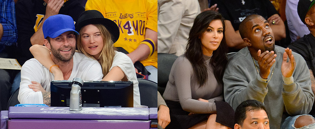 Kim and Kanye Steal the Show at a Celebrity-Filled Lakers Game