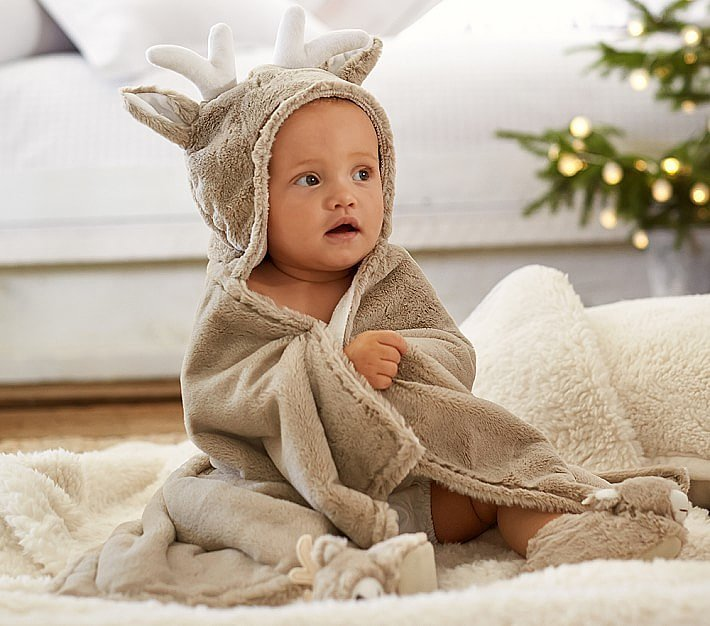 pottery barn kids reindeer critter bath warp 20 great gift ideas for 1 year. Black Bedroom Furniture Sets. Home Design Ideas
