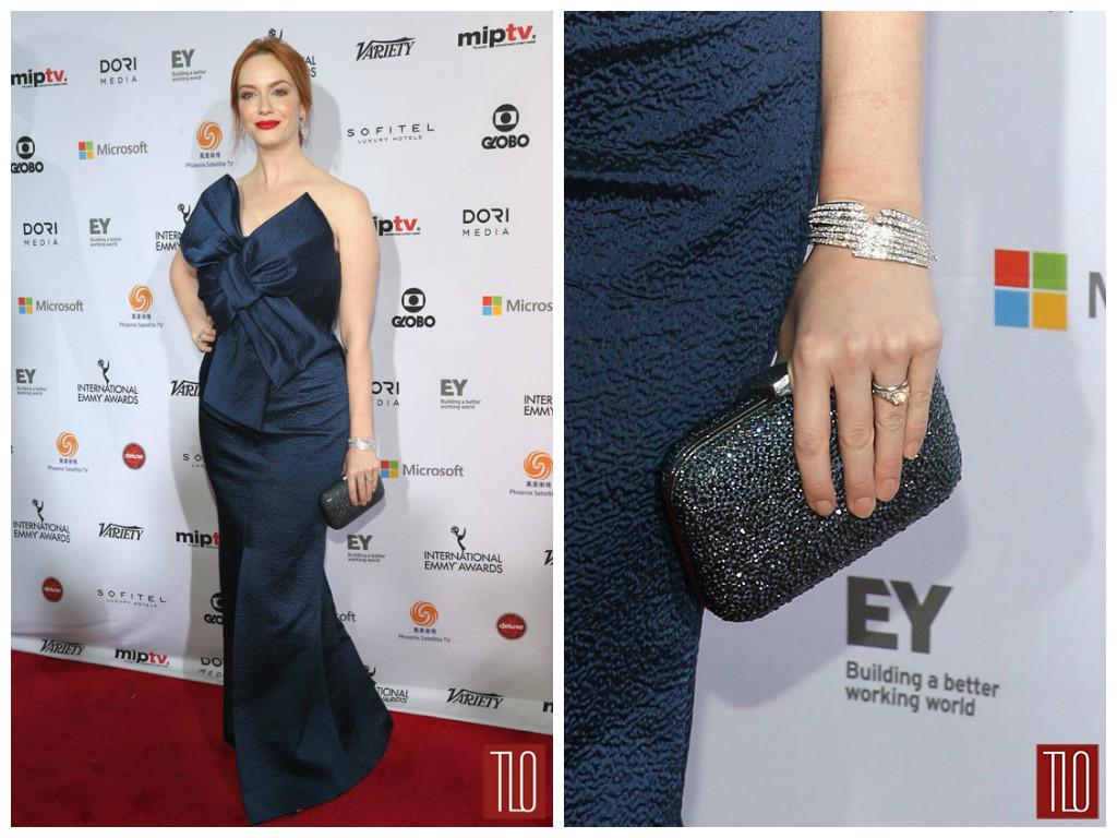 International Emmys Christina Hendricks