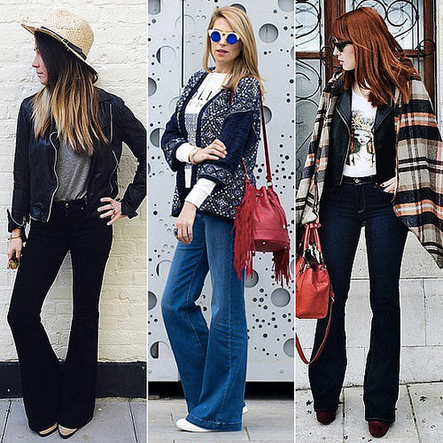 How to Wear the Flared Jeans Trend