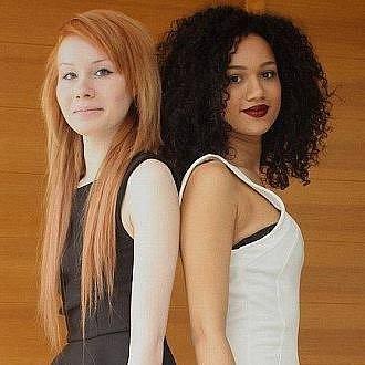 Biracial Twin Sisters