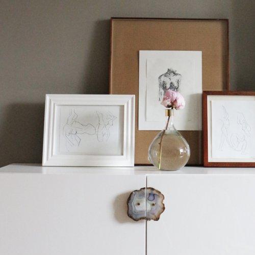 A Simple Yet Glamorous Ikea Besta Shelf Hack