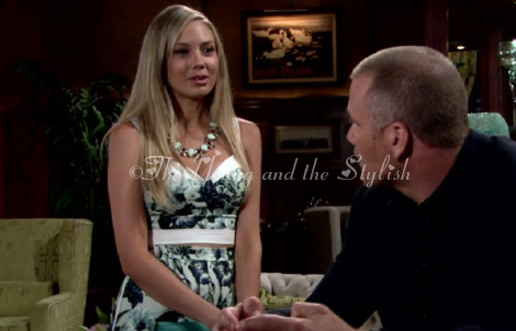 Abby Newman crop top outfit The Young and the Restless