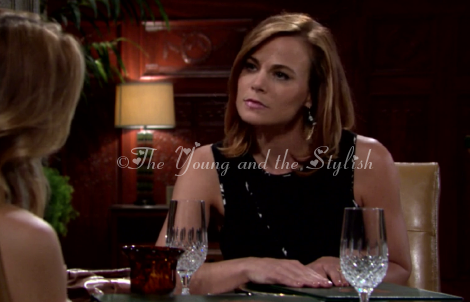 phyllis newman black cutout top the young and the restless