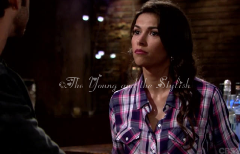 marisa sierras plaid shirt the young and the restless