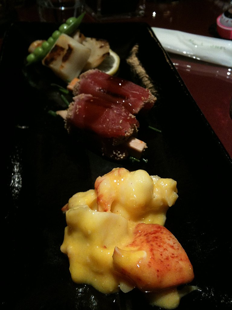 Lobster, Squid, I don't remember the middle one