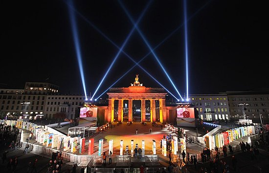 Nov. 8, 2009 : the Brandenburg Gate right before the 20th anniversary of the Fall of the Berlin Wall.