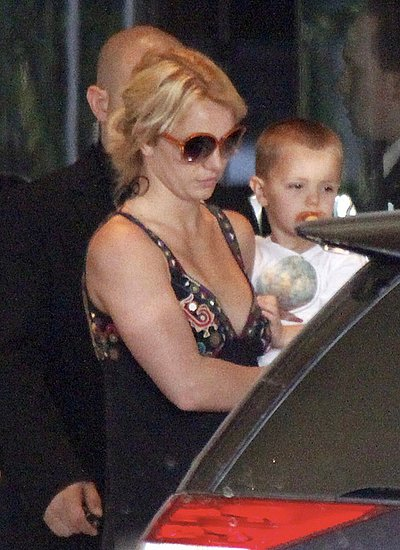 Britney Spears in Melbourne with her kids