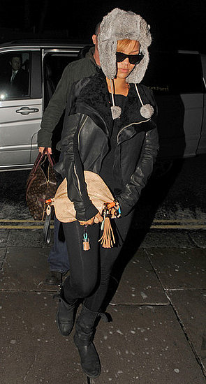 Rihanna walks to her hotel in London