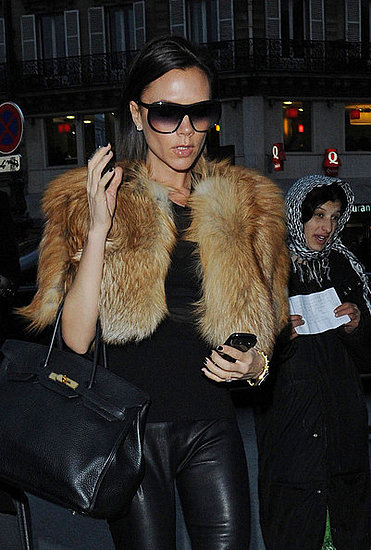 Victoria Beckham at the Gare du Nord to catch the train