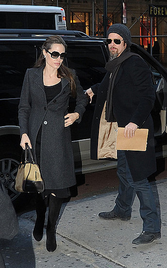 Brad and Angie spotted taking care of  a few errands in Midtown Manhattan
