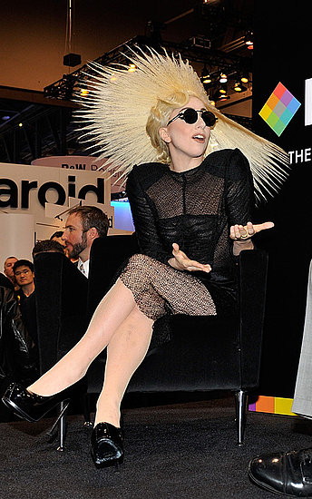 Lady Gaga at the International Consumer Electronics Show