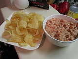 Shrimp Dip with Potato Chips