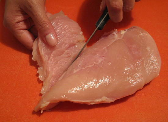 Remove the smaller piece of meat from the breast.