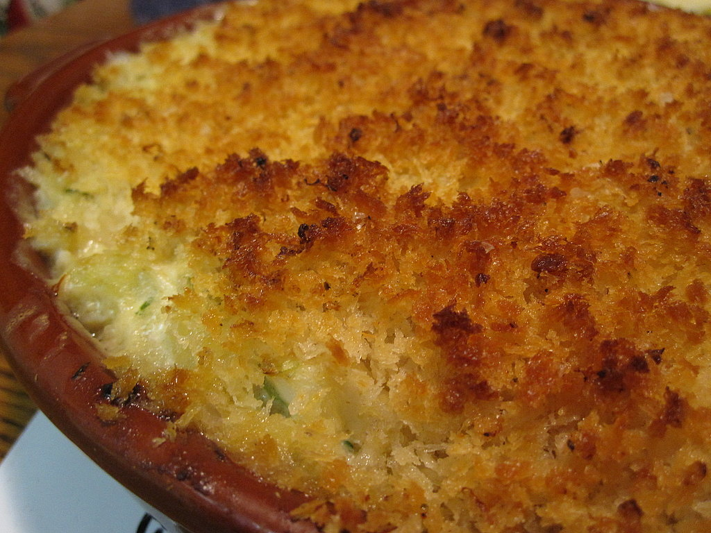 Warm Maryland Crab Dip With Lemon Panko Topping
