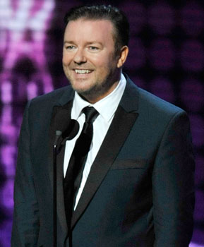Ricky Gervais to Host the 2010 Golden Globe Awards