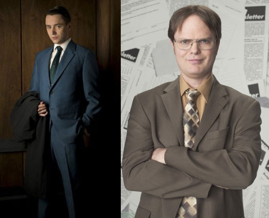 Pete Campbell = Dwight Schrute