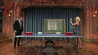 Video of January Jones Playing Beer Pong With Jimmy Fallon