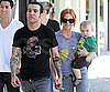 Photo Slide of Pete Wentz, Ashlee Simpson, And Bronx Wentz in LA