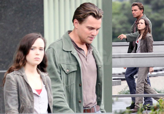 Photos of Leo and Ellen on set
