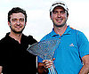 Slide Photo of Justin Timberlake Giving Trophy to Golf Winner