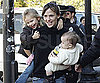 Slide Photo of Jennifer Garner Carrying Seraphina Affleck and Violet Affleck in Boston