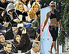 Photos of Kate Hudson at The Yankees Games in NYC; Showing Abs After Pilates