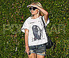 Slide Photo of Kate Bosworth Wearing Jean Shorts in LA