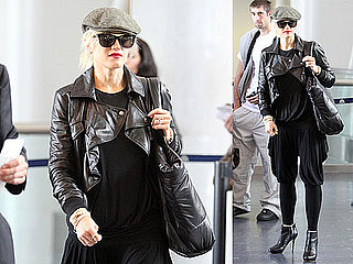 Photos of Gwen Stefani as She Boards a Flight Leaving From LAX