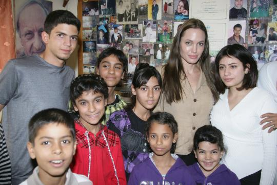 Photos of Angelina and Brad in Jordan