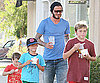 Photos of David Beckham, Cruz Beckham, Romeo Beckham and Brooklyn Beckham at Pinkberry in LA