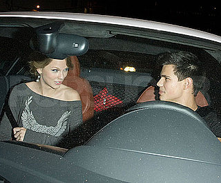 Slide Photo of Taylor Swift and Taylor Lautner Driving Around LA