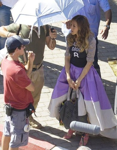 Photos of Sarah Jessica Parker and Cynthia Nixon Filming Sex and the City 2 in Morocco