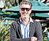 Slide Photo of Pierce Brosnan Picking Up His Car in Malibu