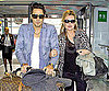 Slide Photo of Kate Moss and Jamie Hince Walking Through Heathrow Together