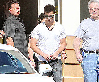 Slide Photo of Taylor Lautner at Studio in Malibu