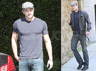 Photos of Kellan Lutz Wearing a Tight T-Shirt as He Runs Errands in LA