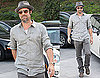 Photos of Brad Pitt After His Minor Motorcycle Accident in LA