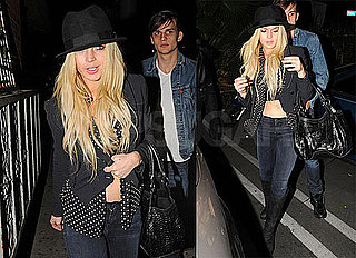 Photos of Lindsay Lohan Leaving a Club in LA Showing Off Her Abs