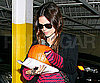 Slide Photo of Rachel Bilson Picking Up a Pumpkin in LA