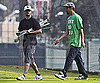 Slide Photo of Justin Timberlake Playing Golf in LA