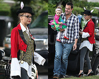 Photos of Nicole Richie and Harlow Dressed Up For Halloween, Nicole With A Ring on Her Left Hand